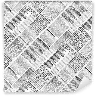Vinyl behang, op maat gemaakt Halftone krant patroon