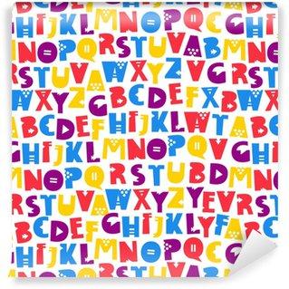 Vinyl behang, op maat gemaakt Letters van het Engelse alfabet