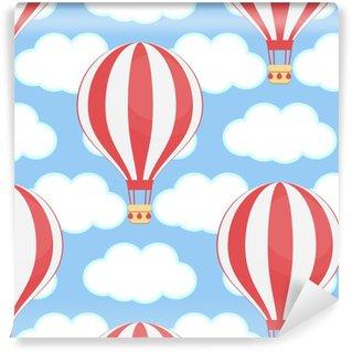 Vinyl behang, op maat gemaakt Luchtballon, lucht, wolken, naadloos