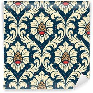 Vinyl behang, op maat gemaakt Luxe ouderwetse damast ornament, koninklijke klassieke naadloze textuur voor achtergronden, textiel, onmiddellijke verpakking. prachtige bloemen barokke sjabloon.