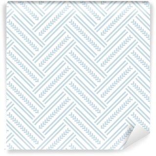 Vinyl behang, op maat gemaakt Naadloos visgraatpatroon.
