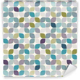 Vinyl behang, op maat gemaakt Naadloze abstracte puntjes patroon