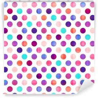 Vinyl Behang Naadloze cirkels achtergrond textuur