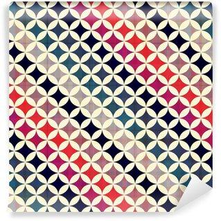 Vinyl behang, op maat gemaakt Naadloze cirkels achtergrond textuur