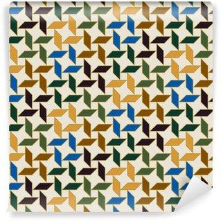 Vinyl behang, op maat gemaakt Naadloze islamitisch geometrisch patroon