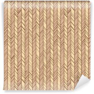 Vinyl behang, op maat gemaakt Patroonvisgraat, naadloze achtergrond, beige, vector. verticale strepen met beige en gele diagonale lijnen. de ongelijke slagen van de imitatie. decoratief, gekleurd patroon.
