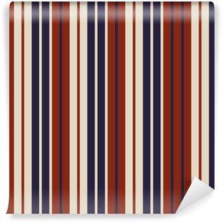 Vinyl behang, op maat gemaakt Retro patroon van de de manierstijl van de de VSkleur naadloos strepenpatroon. abstract vector achtergrond.