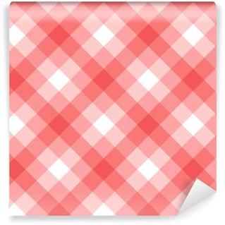 Vinyl behang, op maat gemaakt Roze ruitpatroon naadloos vectorontwerp