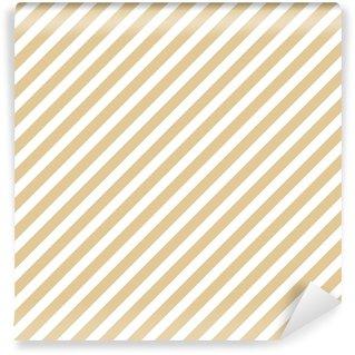 Vinyl behang, op maat gemaakt Streep beige naadloze patroon