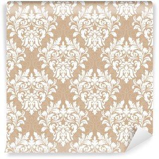 Vinyl behang, op maat gemaakt Vector damast naadloze patroon achtergrond. klassieke luxe ouderwetse damast ornament, Koninklijke Victoriaanse naadloze textuur voor achtergronden, textiel, onmiddellijke verpakking. prachtige bloemen barokke sjabloon