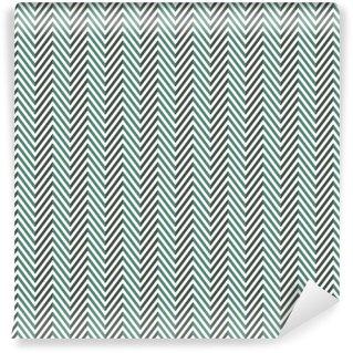 Vinyl behang, op maat gemaakt Visgraat abstracte achtergrond. blauwe kleuren naadloze patroon met chevron diagonale lijnen.