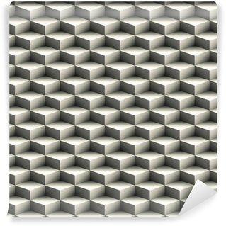 Carta da parati in vinile su misura Geometrico senza soluzione di modello fatto di cubi sovrapposti