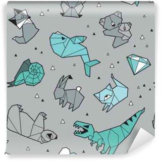 Origami modello di sfondo con gli animali