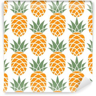 Vinil Duvar Kağıdı Ananas desen