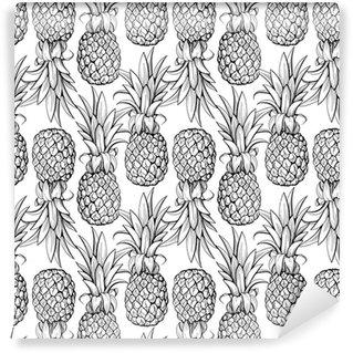 Vinil Duvar Kağıdı Ananas sorunsuz desen