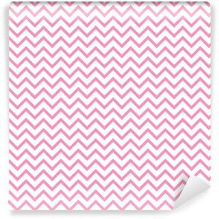 Vinil Duvar Kağıdı Chevron zikzak siyah ve beyaz seamless pattern. Vektör geometrik monokrom çizgili arka plan. zag dalga deseni Zig. Chevron monokrom klasik süsleme.
