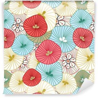Vinil Duvar Kağıdı Çiçek arka plan