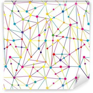 Vinil Duvar Kağıdı Çizgiler ve noktalar ağı