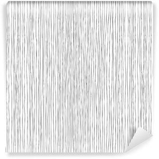 Vinil Duvar Kağıdı Dikişsiz dikey çizgiler elle çizilmiş desen