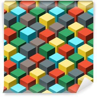 Vinil Duvar Kağıdı Dikişsiz geometrik soyut model. vektör illüstrasyonu.