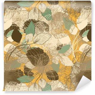 Vinil Duvar Kağıdı Dikişsiz soyut floral pattern