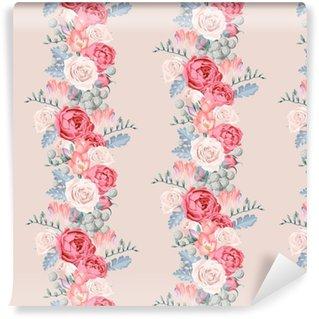 Vinil Duvar Kağıdı Düğün çiçekleri sorunsuz