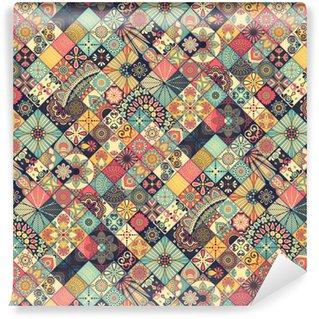 Vinil Duvar Kağıdı Etnik floral seamless pattern