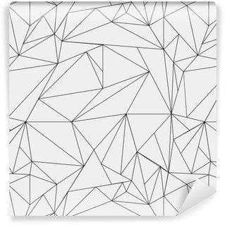 Vinil Duvar Kağıdı Geometrik basit siyah ve beyaz minimalist desen, üçgen ya da vitray pencere. duvar kağıdı, arka plan veya doku olarak kullanılabilir.