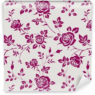 Vinil Duvar Kağıdı Gül ile Seamless pattern