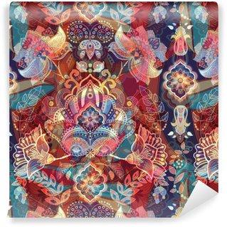 Vinil Duvar Kağıdı Işık renkli dikişsiz desen