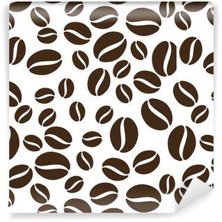 Vinil Duvar Kağıdı Kahve çekirdekleri desen