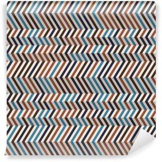 Vinil Duvar Kağıdı Kahverengi Retro renklerde Moda chevron desen