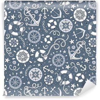 Vinil Duvar Kağıdı Karikatür deniz çizgisi