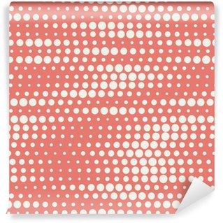 Vinil Duvar Kağıdı Kırmızı pastel renklerde kesintisiz yarım ton arka plan vektör çizim