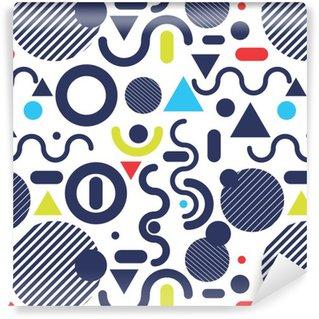 Vinil Duvar Kağıdı Memphis moda stil, modern desen renk arka plan