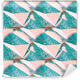 Vinil Duvar Kağıdı Özet kırışık üçgen arka plan doku. tasarım Dikişsiz çokgen desen. Yaratıcı şablon.