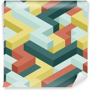 Vinil Duvar Kağıdı Renk şekli kesintisiz deseni