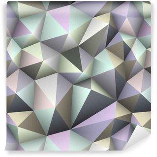 Vinil Duvar Kağıdı Renkli üçgen kesintisiz düşük poli plan.