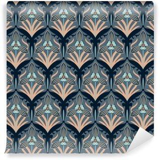 Vinil Duvar Kağıdı Retro çiçekler