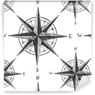 Vinil Duvar Kağıdı Rüzgâr gülü ile sorunsuz desen