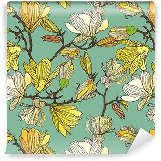 Vinil Duvar Kağıdı Seamless floral doku