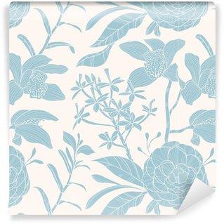 Vinil Duvar Kağıdı Seamless floral pattern