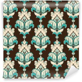 Vinil Duvar Kağıdı Seamless vector background. Vintage damask deseni. Kolayca renkleri düzenleyin.