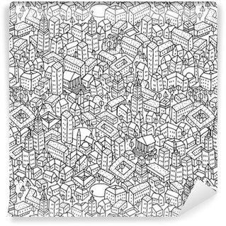 Vinil Duvar Kağıdı Şehir seamless pattern