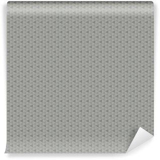 Özel Boyutlu Vinil Duvar Kağıdı Şık İskandinav gri tonları geometrik desen. Büyük moda web baskı veya iç üçgen kesintisiz doku.