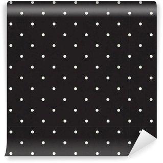 Vinil Duvar Kağıdı Siyah puantiyeli arka plan