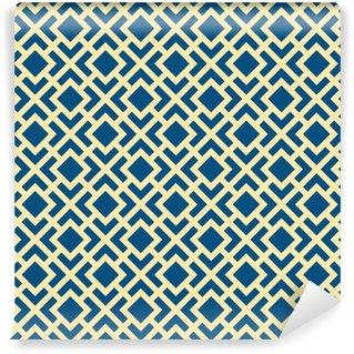 Vinil Duvar Kağıdı Soyut Dikişsiz Geometrik Art Deco Kafes Vektör Desen
