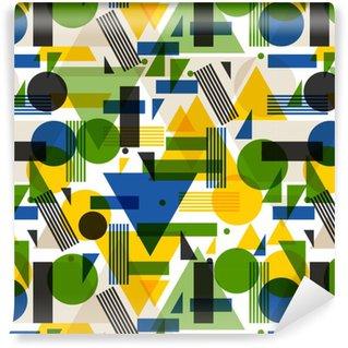 Vinil Duvar Kağıdı Soyut geometrik tarzı Dikişsiz desen. duvar kağıdı, arka plan, tekstil baskı için tasarım