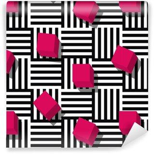 Vinil Duvar Kağıdı Vektör dikişsiz geometrik desen.
