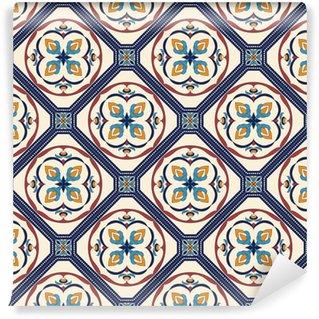 Vinil Duvar Kağıdı Vektör sorunsuz doku. dekoratif elemanları ile tasarım ve moda için güzel renkli desen